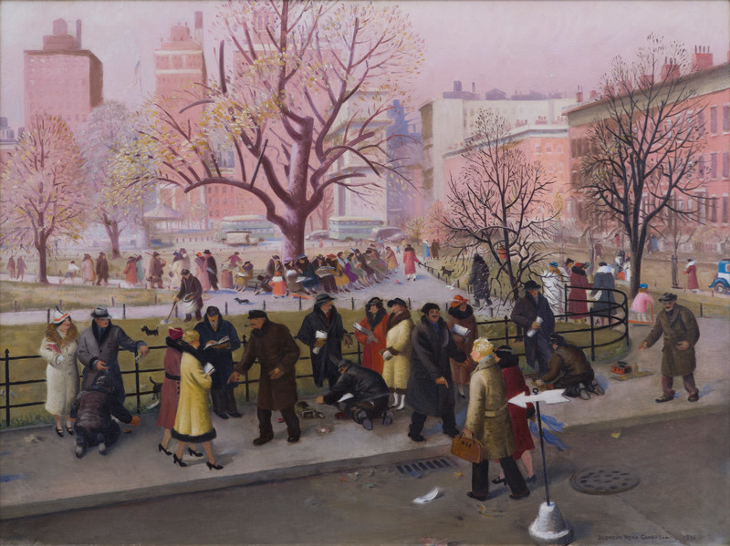 Washington Square, New York by Blendon Reed Campbell (1872-1969)