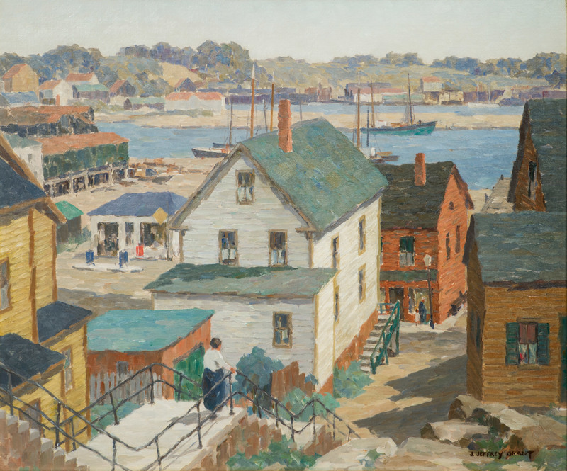 Harbor Court, Gloucester, Massachusetts by James Jeffrey Grant (1883-1960)