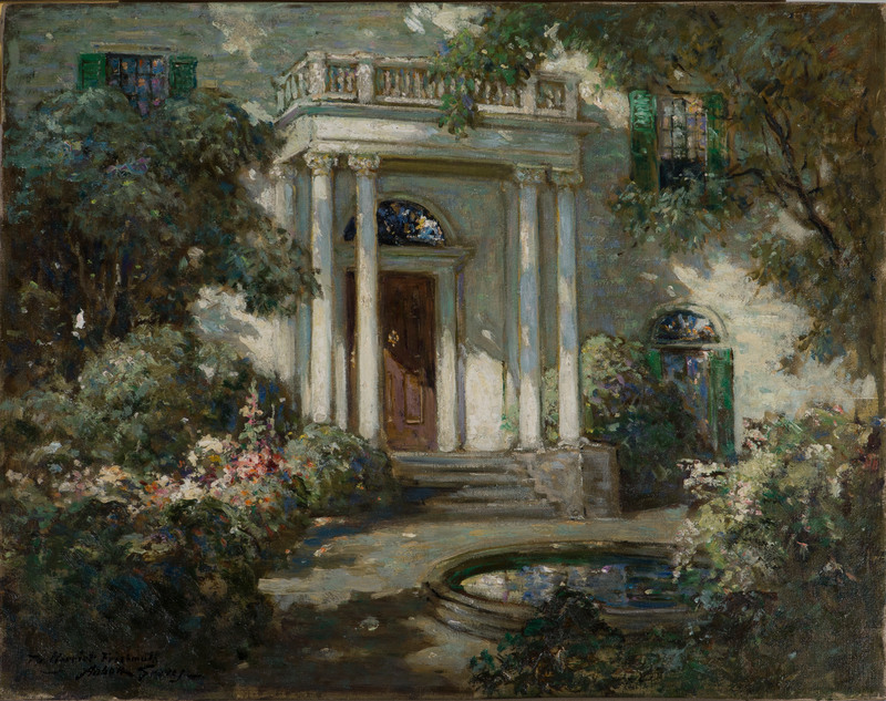 Front Porch in Dappled Sunlight by Abbott Fuller Graves (1859-1936)
