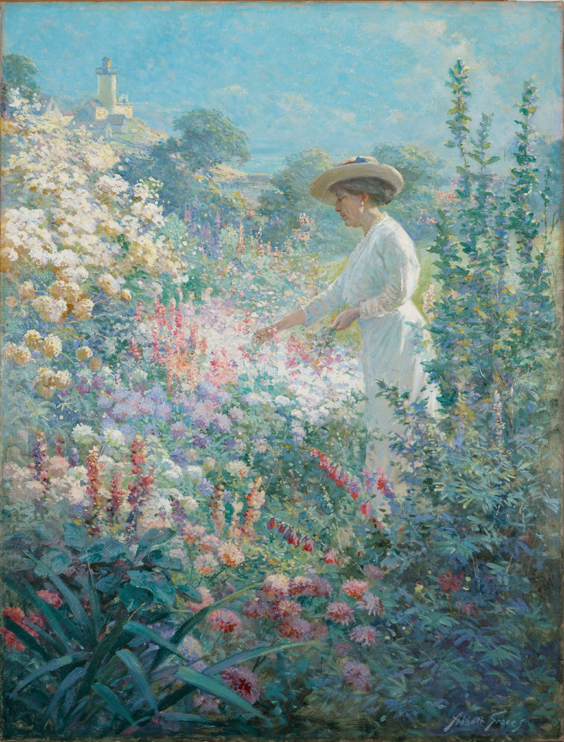 Garden at Finisterre, Eastern Point, Gloucester, MA by Abbott Fuller Graves (1859-1936)