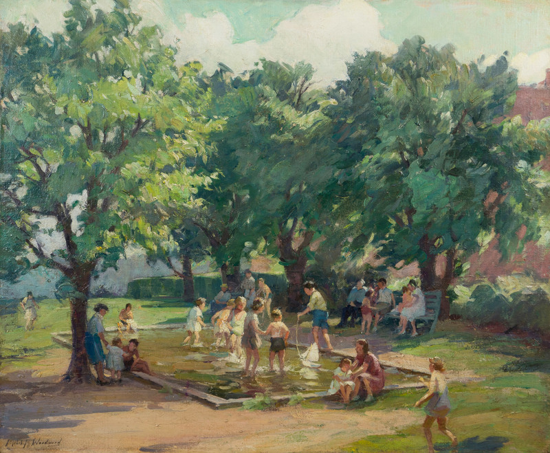 Afternoon at the Playground  by Mabel May Woodward (1877-1945)