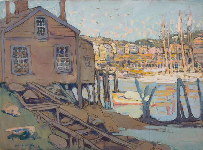 Fisherman's Home, Gloucester Harbor by Jane Peterson (1876-1965)