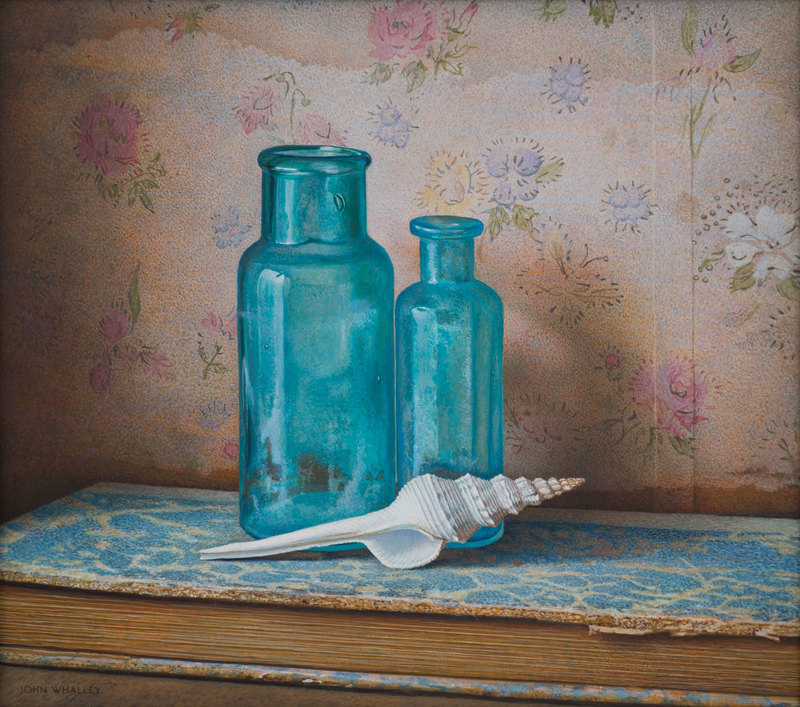 Blue Bottles by John Whalley