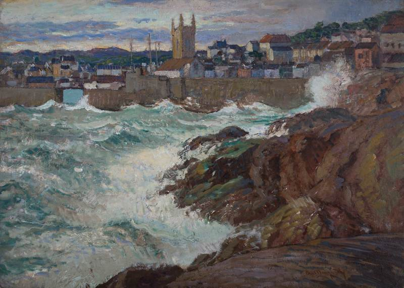 St. Ives, Cornwall by Paul Dougherty (1877-1947)