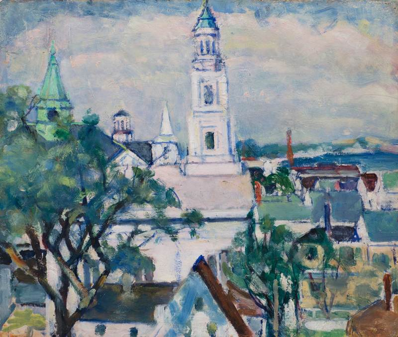 View of Provincetown by Nancy Maybin Ferguson (1872-1967)