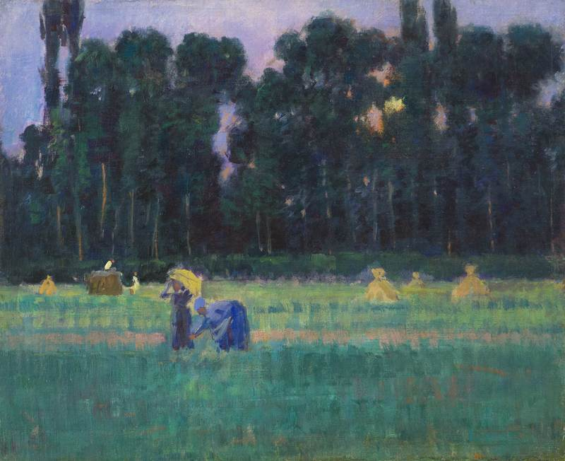 The Harvest Gleaners, Giverny by Theodore Wendel (1857-1932)