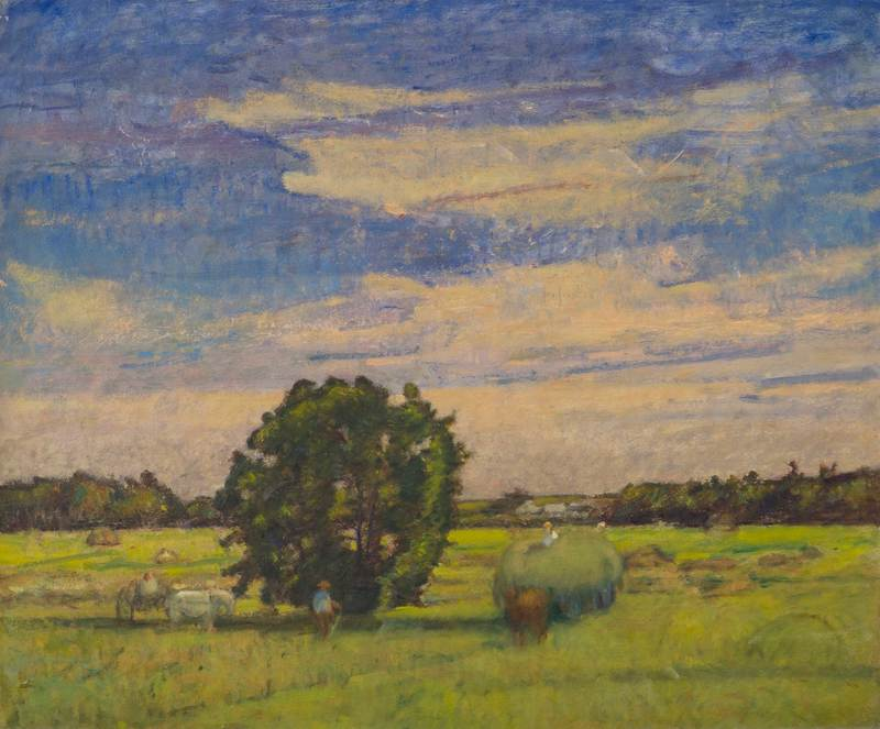 The Hay Wagon, Ipswich by Theodore Wendel (1857-1932)