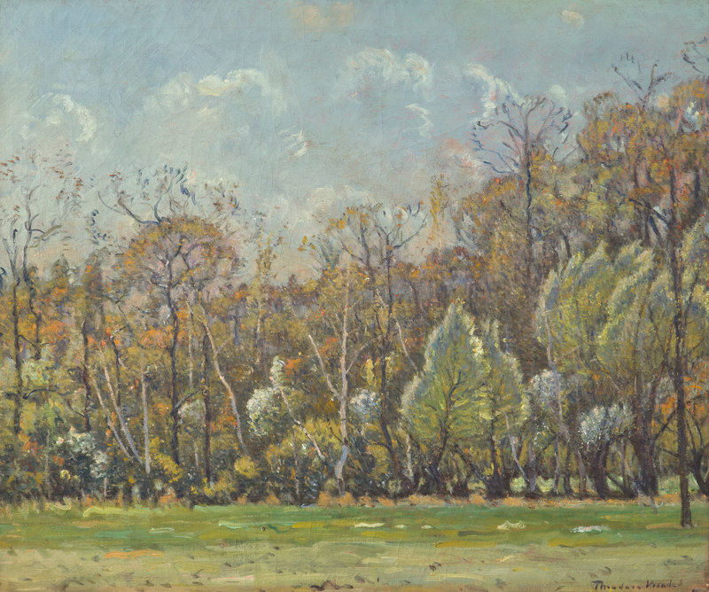 Trees at Heartbreak Hill, Upper Farm by Theodore Wendel (1857-1932)