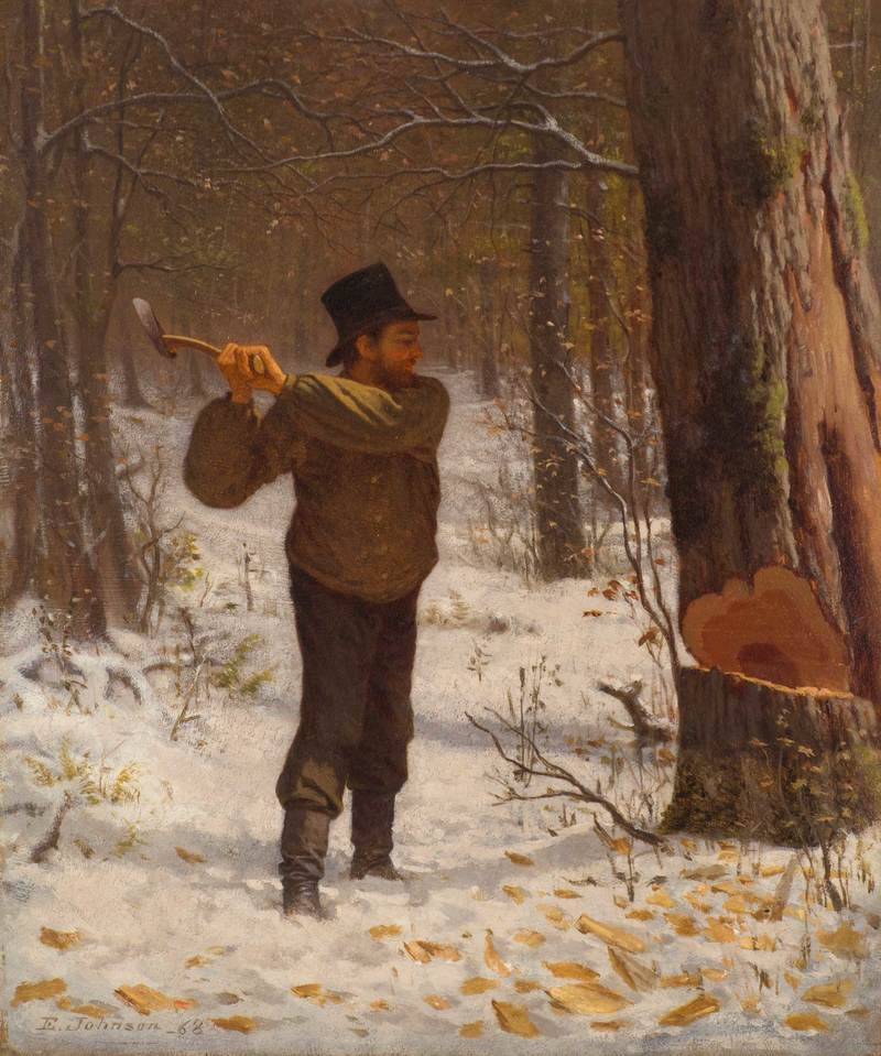 The Wood Chopper by Eastman Johnson (1824-1906)