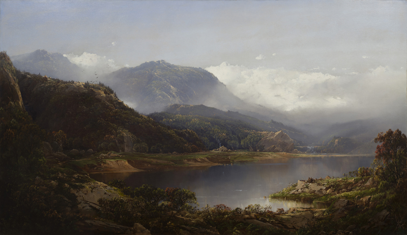 Lakeside Landscape by William Louis Sonntag (1822-1900)