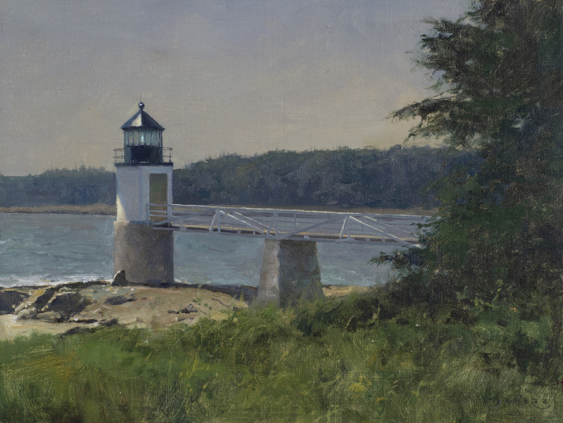 Standing Alone, Marshall Point Light, Port Clyde, Maine by Donald Demers