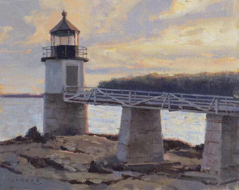 Fading Light, Marshall Point Light, Port Clyde, Maine by Donald Demers