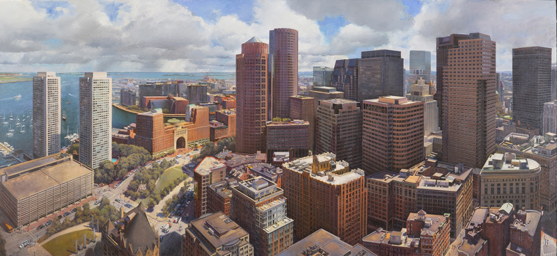 Boston from the Custom House Tower by Joel Babb