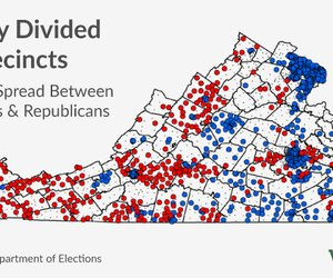Sharply Divided Precincts: Governor's Elections