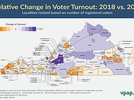 Relative Change in Turnout: 2016 vs 2018