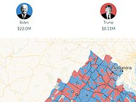 Presidential Donations by Precinct - Through Oct 14, 2020