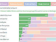 Lieutenant Governor Candidate Funding Sources in Q1 2021
