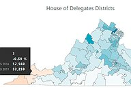 Virginia House and Senate Voter Registration Trends