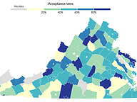 College acceptance rates across Virginia