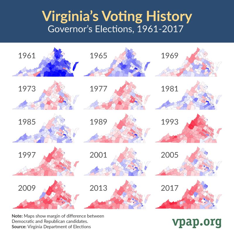 Virginia's Voting History: Governor's Elections