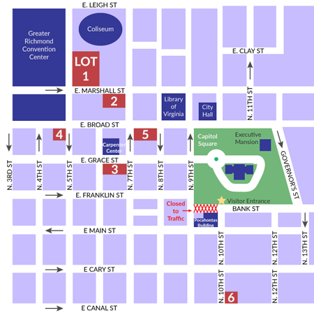 Capitol Parking Map