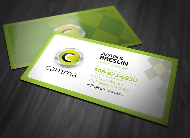 Green Business Card PSD Template Pack