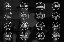 16 Classic Vintage Badge Vectors