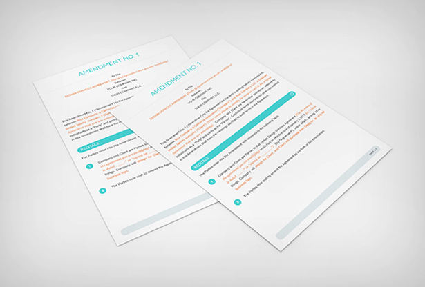 Amendment Contract Vector Template