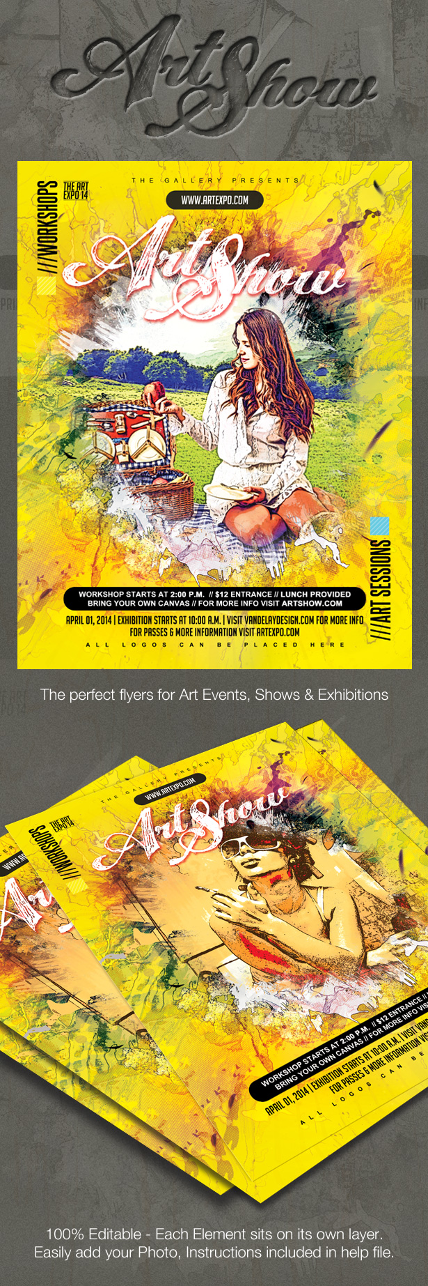 Art Flyer Poster Template PSD