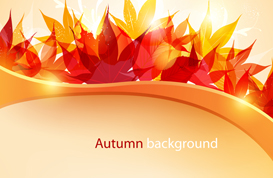 Bright Autumn Background Vector and PSD