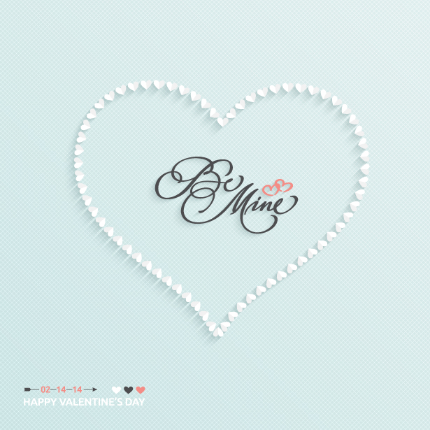 Be Mine Valentine Vector Background