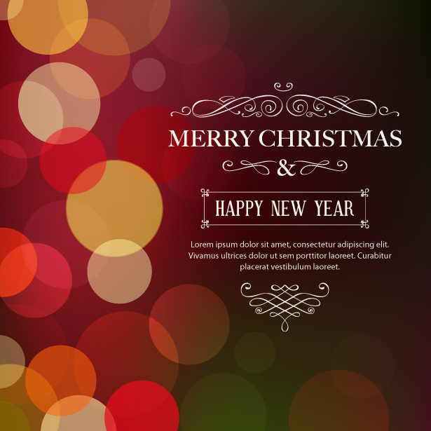 Bokeh Christmas Vector and PSD Background