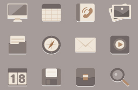 Brownie Icon Vector and PSD Set