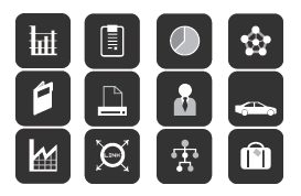 Charcoal Business Vector Icon Pack