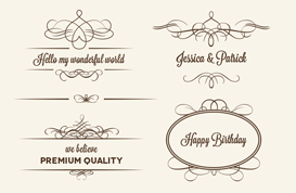 Calligraphic Badge and Ornament Vectors