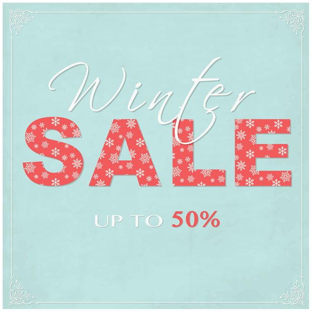 Classic Winter Sale PSD Background