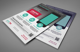 Flat Corporate Flyer PSD Template