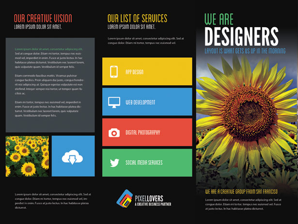 Creative Brochure PSD Template
