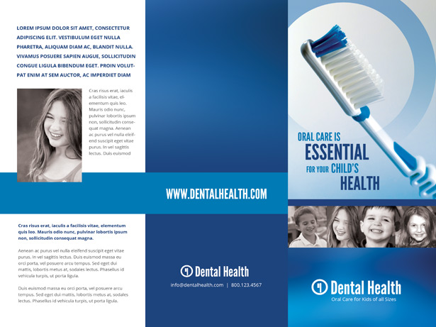 Dental Brochure PSD Template