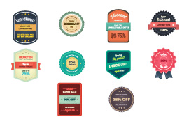 Discount and Sale Vector Badges