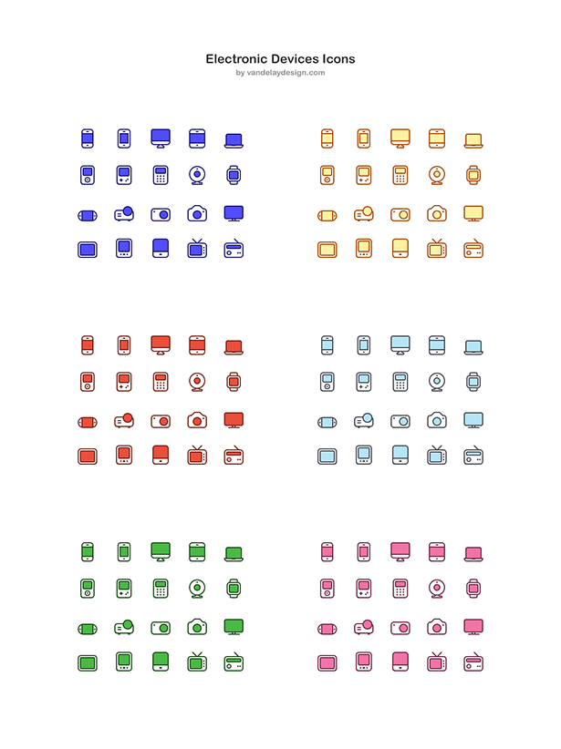 Electronic Device Icon PSD Pack