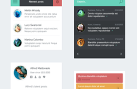 Flat App Website PSD Elements