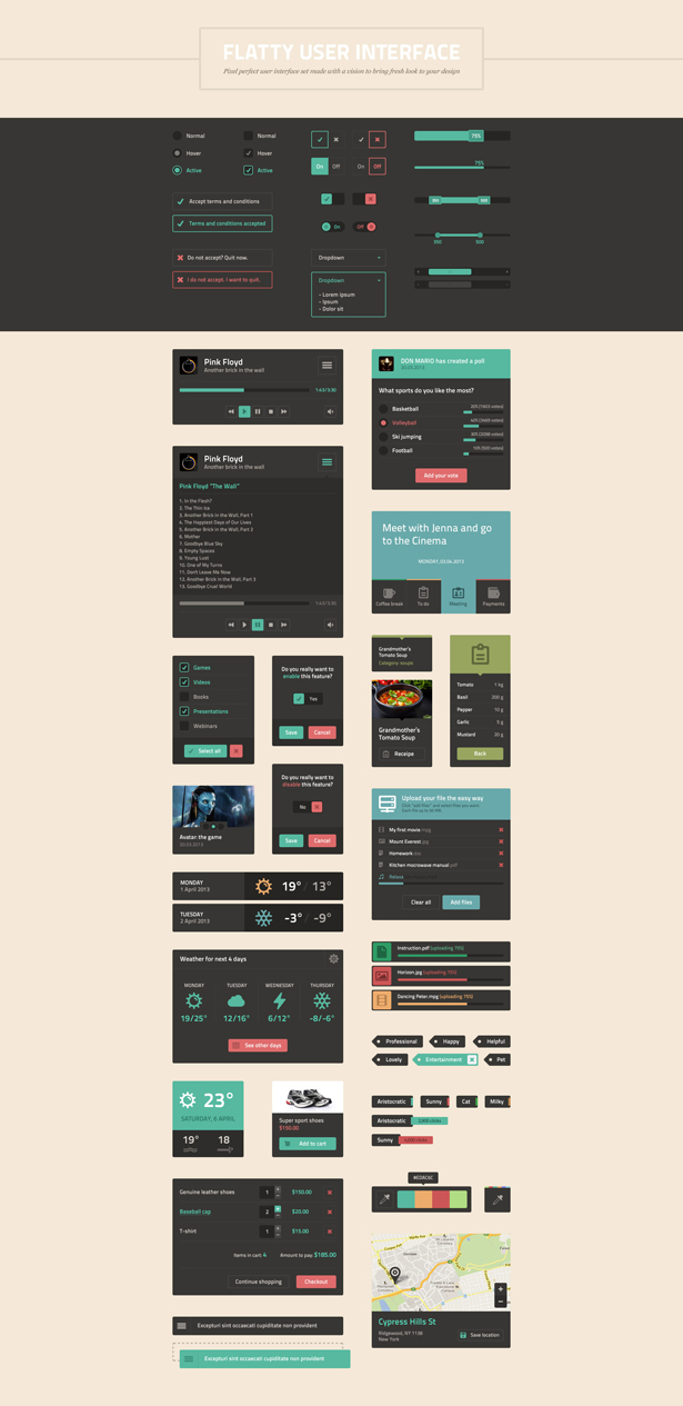 Flatty Mega UI PSD Kit