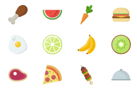Sixteen Food Vector Icons