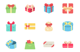 Christmas Gift Vector Pack