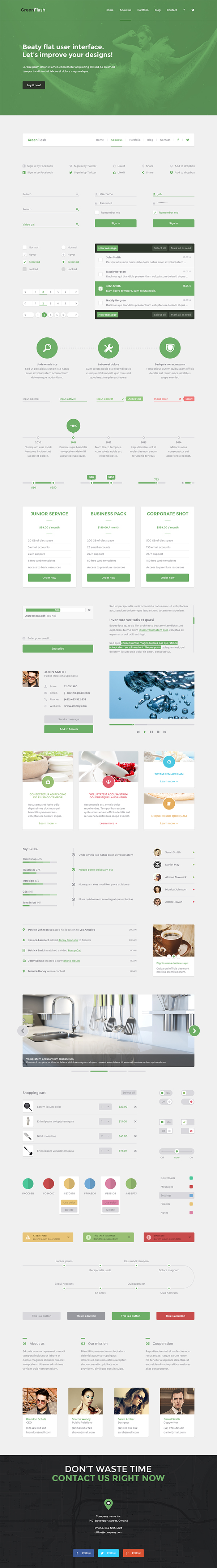 Green Flash UI PSD Kit