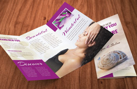Health and Beauty Brochure PSD Template