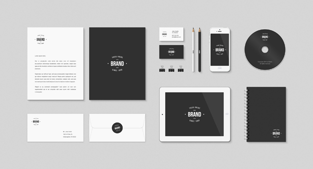 Identity and Brand Mockup PSD Kit