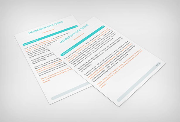 Membership Site Terms Contract Template