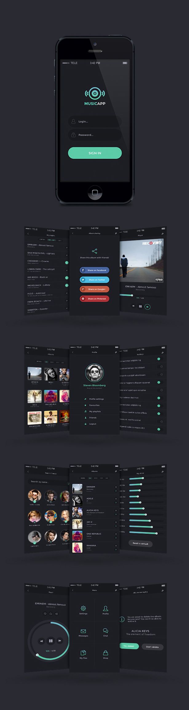 Mobile UI PSD Pack